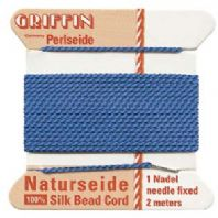 2M Griffin Silk Cord 0.98mm Bead Thread Blue Size 12